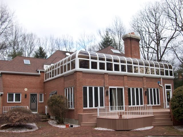 CT All-Season Second-Story Curved-Eave Sunroom Addition