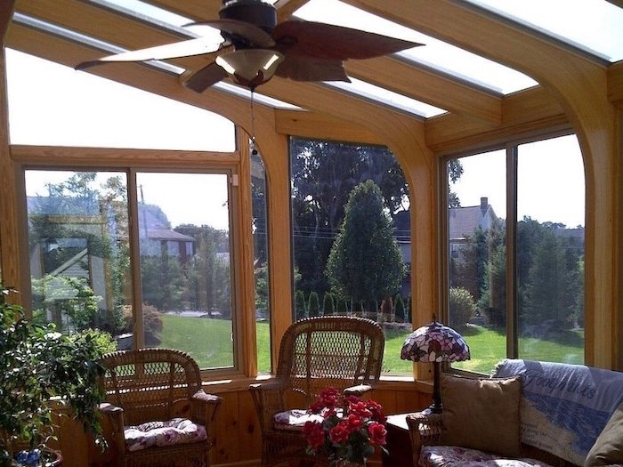 CT All Season Two Story Sunroom Addition Creates Space and Value