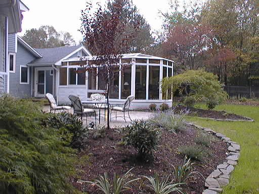 CT Exterior Patio Enclosed to All-Season Conservatory Sunroom
