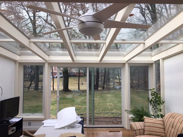 Interior Patio Enclosed to an All Season Sunroom Addition
