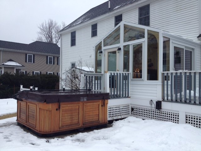 Exterior Deck Enclosed witih a Sunroom Boston MA