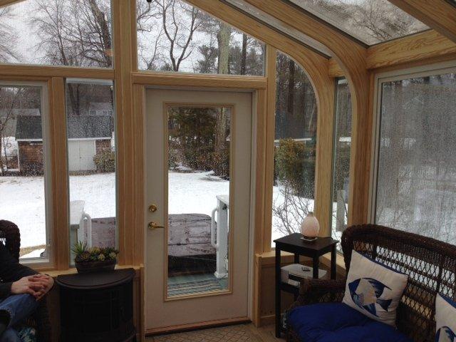 Interior Deck Enclosed witih a Sunroom Boston MA