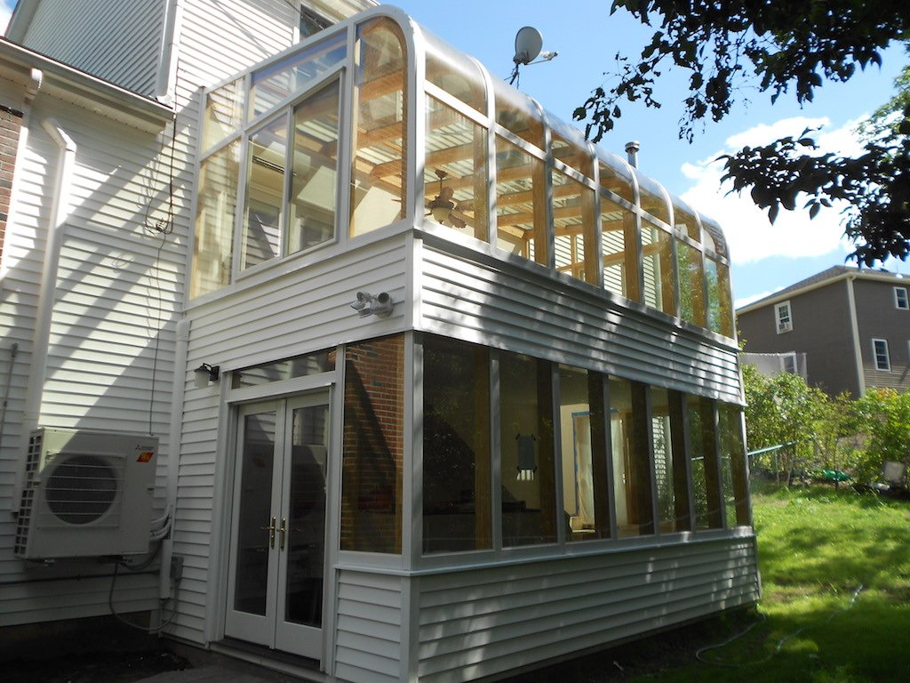 Two Story Sunroom Worcester MATwo Story Sunroom Worcester MA
