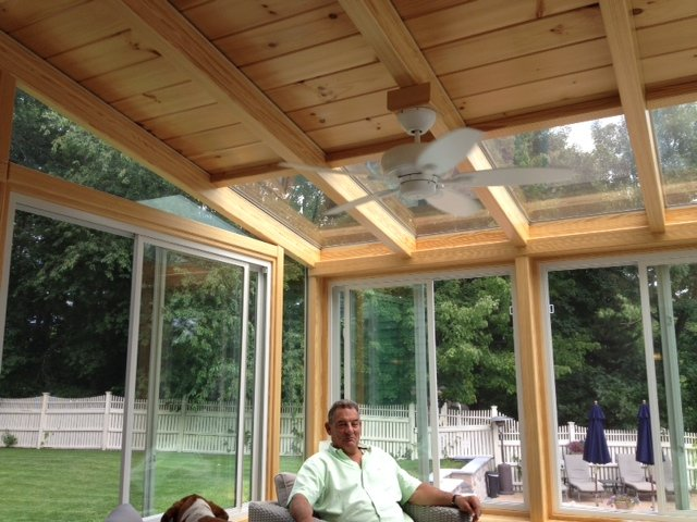Custom Partial Glass Roof Sunroom