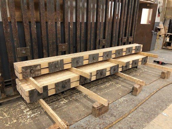 Solarium Laminated Wood Beam Pressing