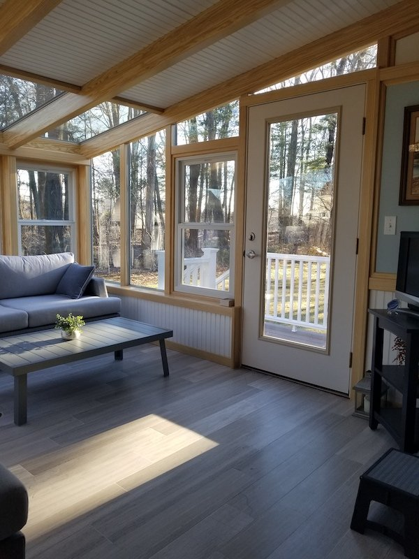 MA Add a Custom All Season Sunroom Addition with Solid Ceiling