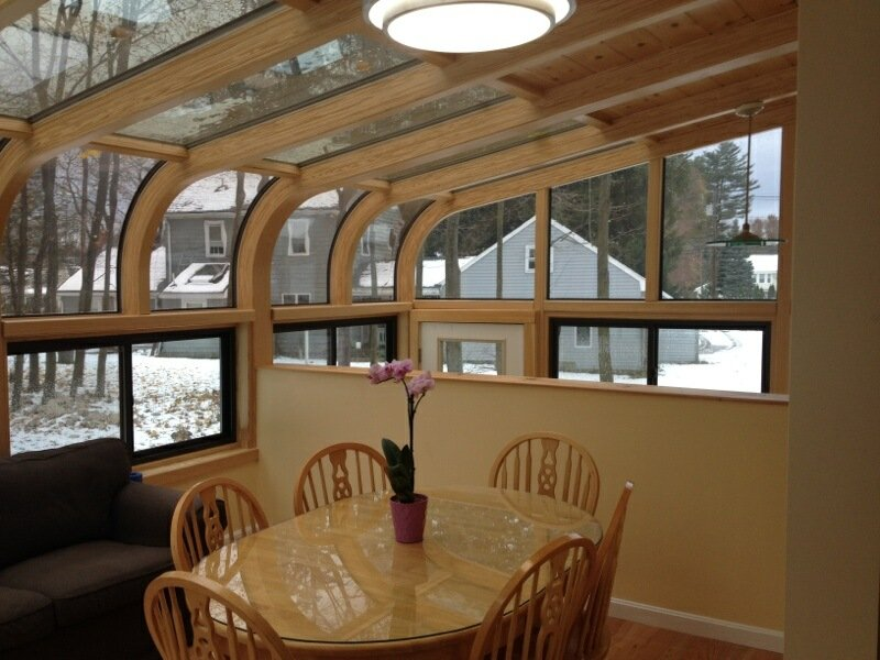 MA Add a Curved Glass Four Season Sunroom Addition