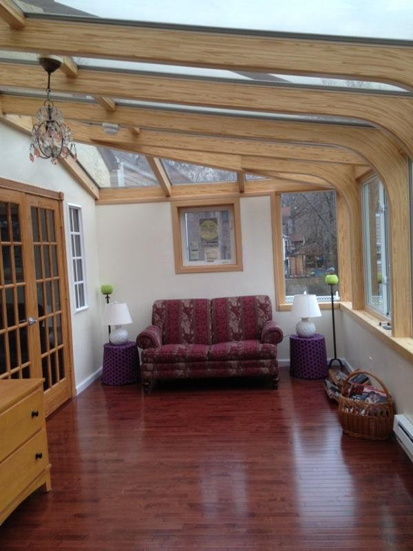 MA Interior of a Second-Story All-Season Custom-Deisgned Sunroom Addition