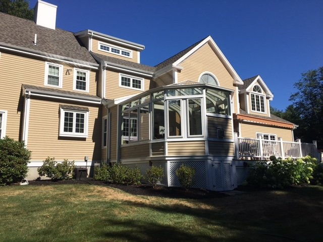 Exterior Deck Enclosed to All-Season Conservatory Sunroom Boston MA
