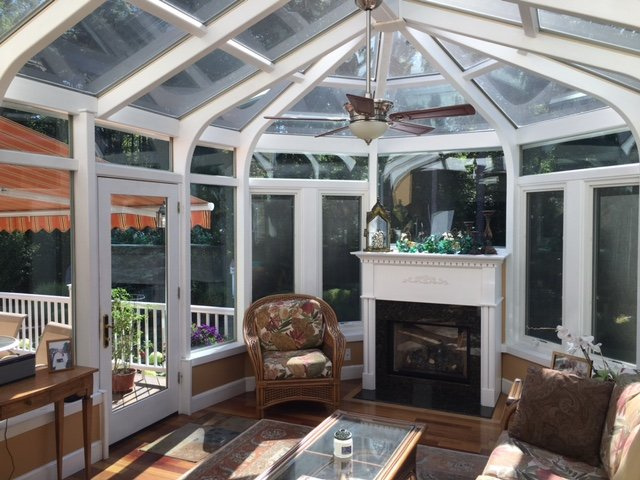 Interior Deck Enclosed to All-Season Conservatory Sunroom Boston MA