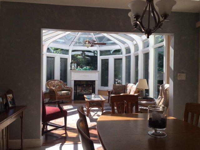 Interior Deck Enclosed to All-Season Conservatory Sunroom Boston MA