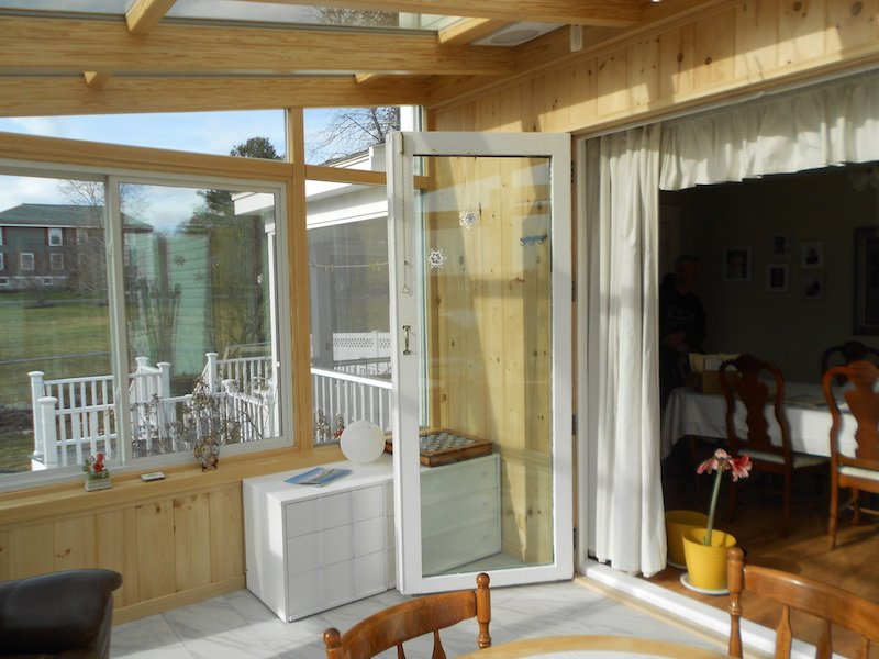 MA A Brady-Built True Year-Round Sunroom Addition can open directly into your home.