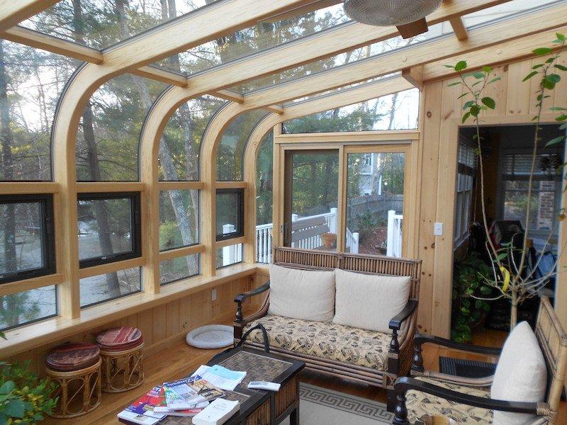 MA Enclose a Deck with a 4 Season Curved Glass Sunroom Addition