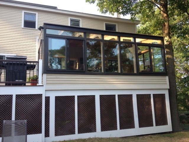 MA After Enclosing Deck with All-Season Sunroom Addition