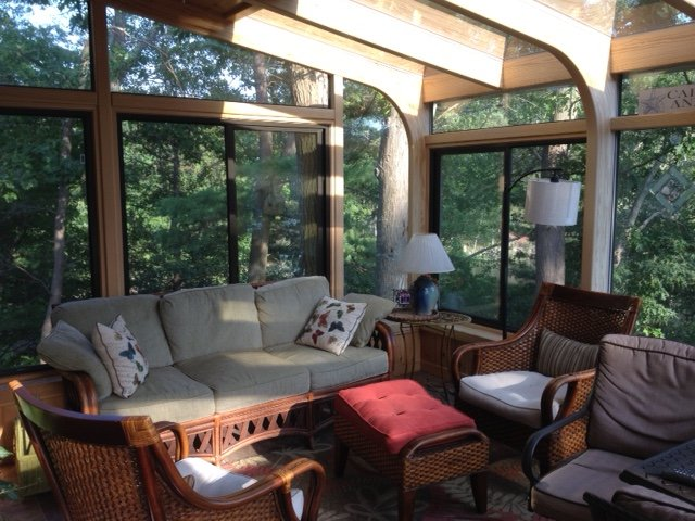 MA Interior of Deck Enclosed with All-Season Sunroom Addition