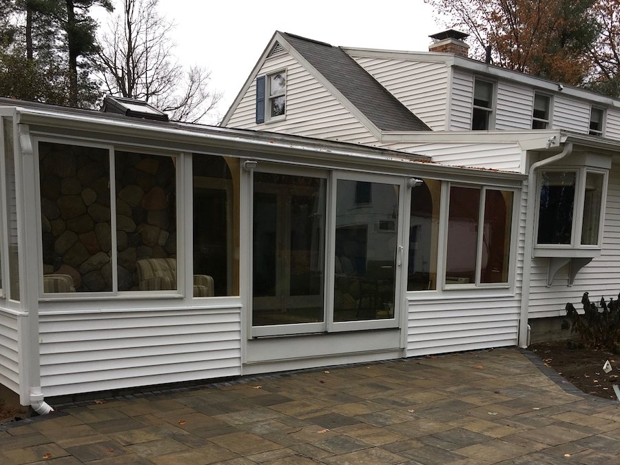 Exterior Deck Enclosed With 4-Season Sunroom