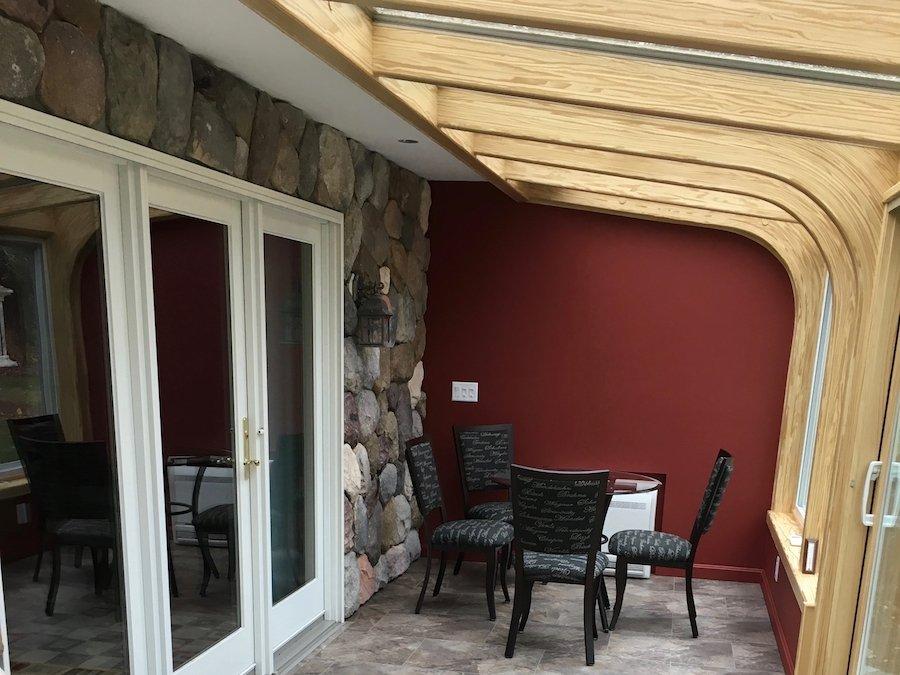 Interior Deck Enclosed With 4-Season Sunroom
