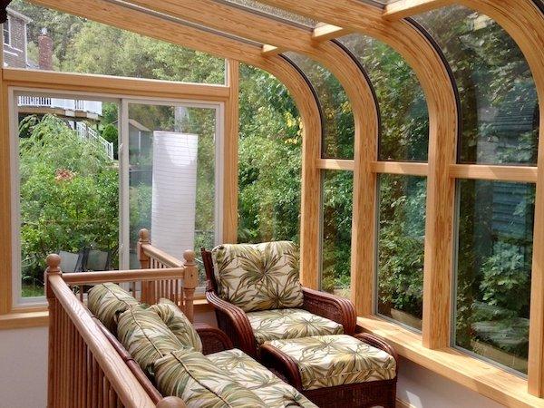 Interior Two-Story Hot-Tub Enclosure Sunroom