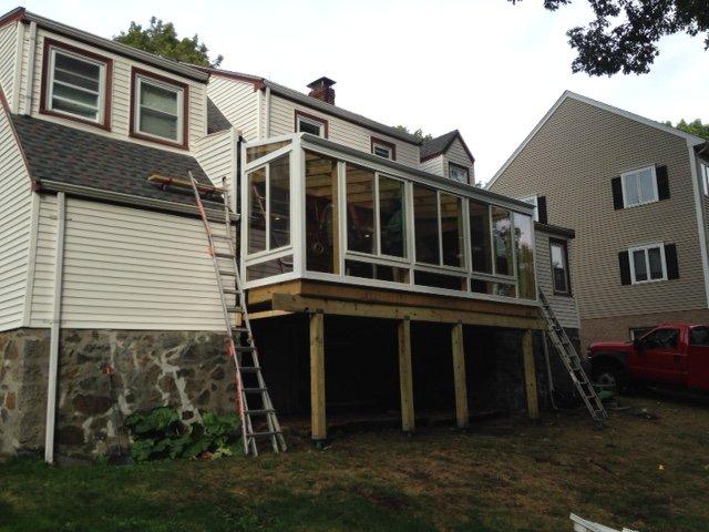 MA Deck Enclosed to All Season Solarium Exterior