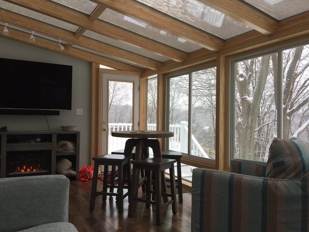 MA Deck Enclosed to All Season Solarium Interior