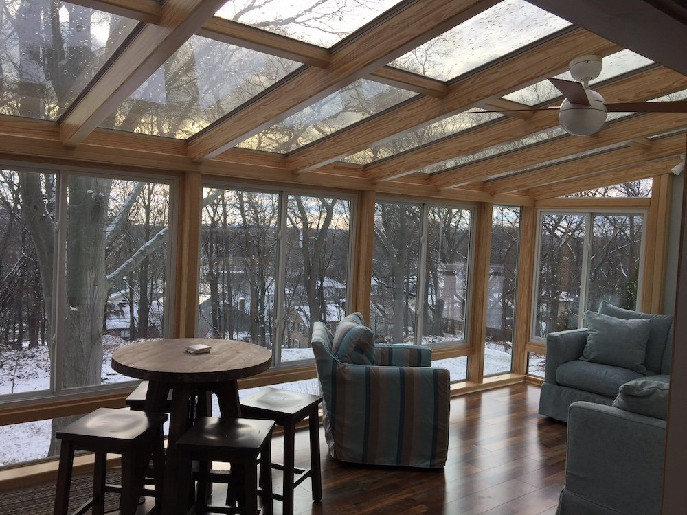 MA Deck Enclosed to All Season Solarium Interior