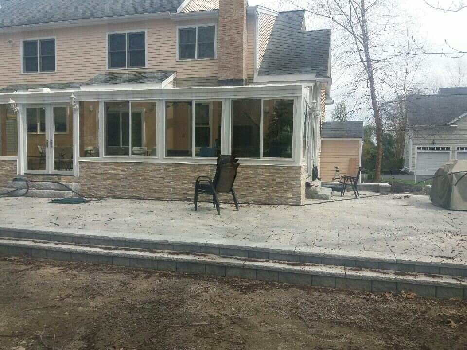 MA Exterior of Enclosed Patio with a 4 Four Season Sunroom