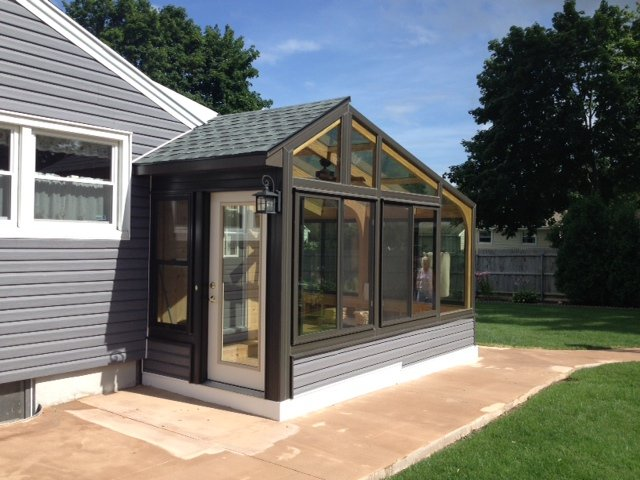 MA Exterior of Enclosed Patio with a 4 Four-Season Sunroom Addition