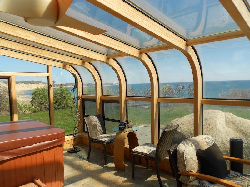 MA Enclose Your Patio with an All Season Curved Sunroom to Enjoy Ocean Views Year Round