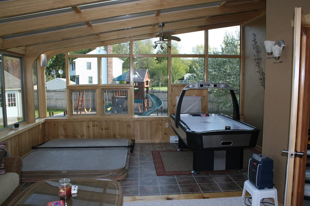 MA Spa Hot Tub Enclosure All-Season Sunroom Addition