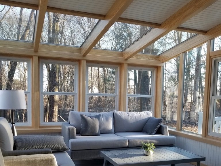 Interior MA 3/4 Solid-Ceiling All-Season Sunroom Addition