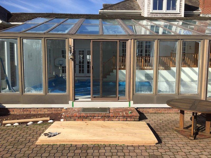 Before Installing Swimming Pool All Season Sunroom Enclosure Cape Code MA