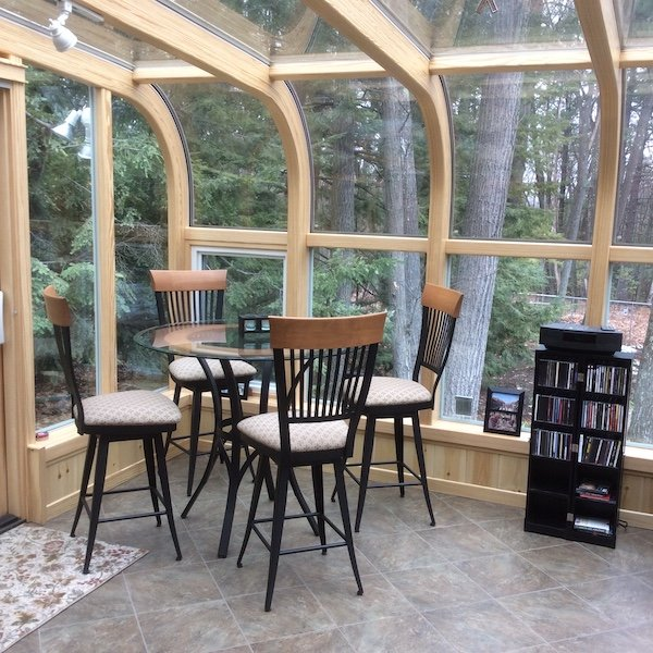 NH Add a 4-Season Curved Glass Sunroom Create Space Add Value