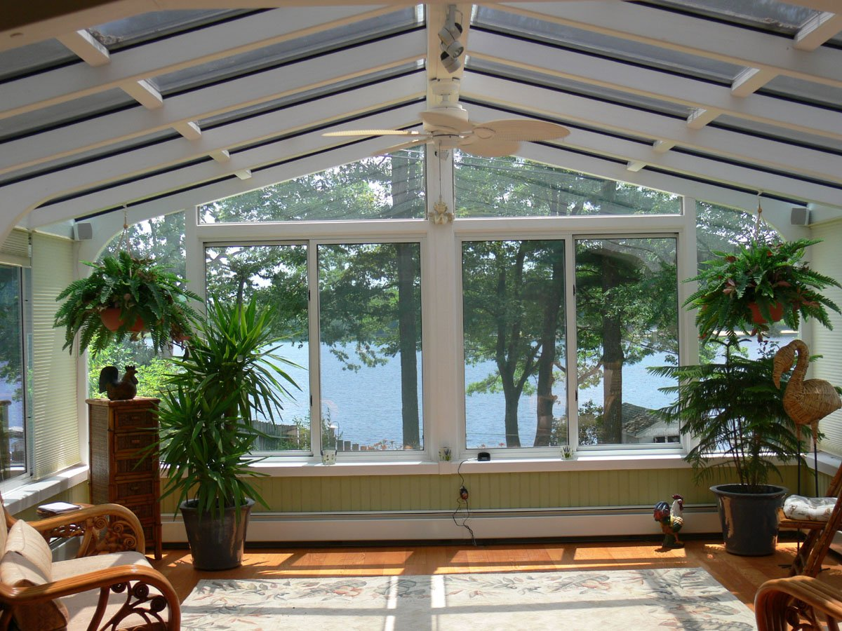 NH All-Season Gable-Style Sunroom Addition used to Enclose a Deck