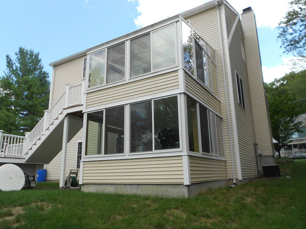 NH Porch Converted to Two-Story Sunroom Addition
