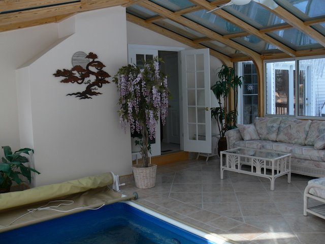 RI Add a Sunroom to Enclose an Endless Swim-in-Place Pool and Hot Tub / Spa