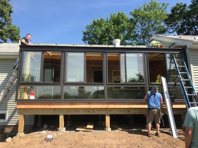 RI During Deck Enclosed to an All-Season Sunroom