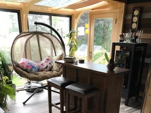 RI Interior of Deck Enclosed to an All-Season Sunroom